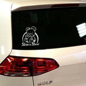 bebe a bord sticker arriere voiture
