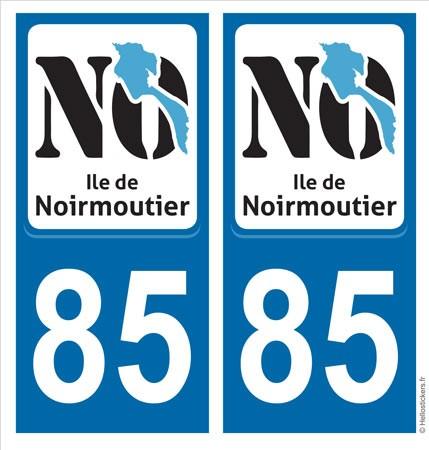 Ile de Noirmoutier autocollant sticker plaque immatriculation adhésif