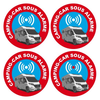 Sticker autocollant alarme camping car
