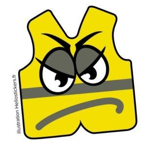 Gilets jaunes en colère stickers autocollants humour gilets jaunes autocollants en planche badges gilets jaunes