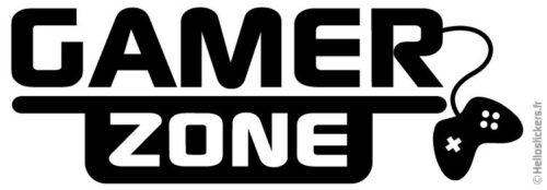 070119 sticker autocollant adhésif gamer zone 100% gamer pour portes de chambre ou ordinateur portable mac pc