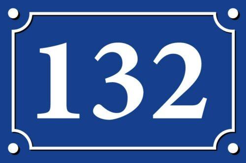 080119 sticker autocollant numéro de rue adhésif pour porte boîtes au lettres poubelles