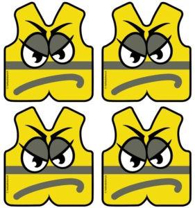 autocollant Gilets jaunes stickers autocollants pour manifestation gilets jaunes adhésifs en planche pour voiture, vêtements
