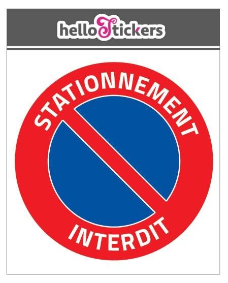 sticker autocollant stationnement interdit stationnement gênant, interdit de stationner pour portail garage sortie de voiture