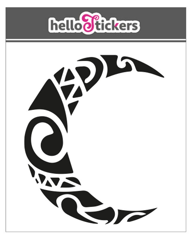 stickers symboles tribal art tribal demie-lune deco autocollants 300319