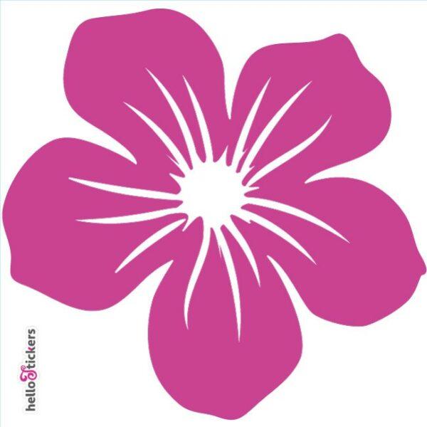 010619 autocollant sticker fleur tribal hawai rose