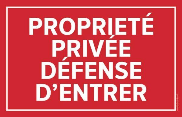 160619 autocollant propriete prive defense d'entrer sticker panneau