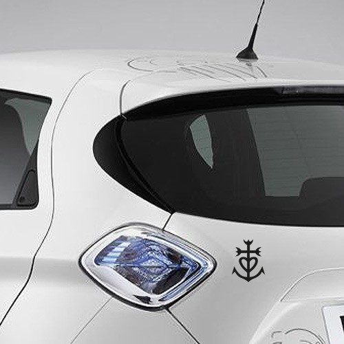sticker autocollant croix camarguaise camargue voiture vitre murs boites aux lettres noir blanc