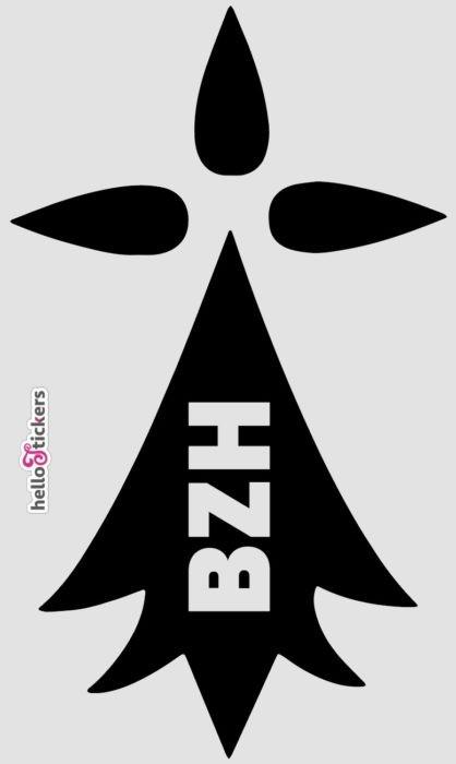 Sticker autocollant hermine bretonne sticker bretagne avec symbole BZH