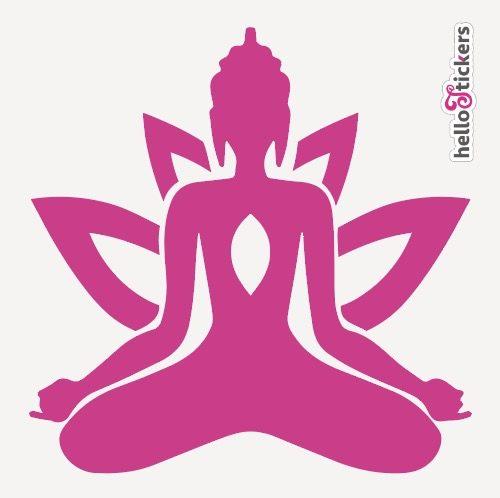 stickers-autocollant-bouddha-zen-avec-fleur-de-lotus-rose-violet